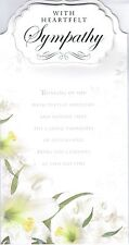 Quality SYMPATHY Bereavement Card ~ From the Platinum Collection