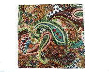 """Handmade Kantha 16"""" LEAVES 4   Cushion Cover Indian Cotton Pillow ( LE-04)"""