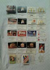 Lot of 480 Vintage McDonalds Expired Coupon Vouchers. 18 Unique, Rare Designs