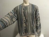 MENS 90's Vintage COOGI like Pullover Dad BIGGIE Hip Hop Sweater SIZE XXL 2XL