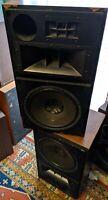 """PAIR 2 Pioneer CS R700 LARGE Speakers Rare Walnut Tweeter 12"""" FB Subwoofer vtg"""