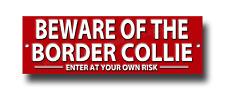 Beware Of The Border Collie Enter bei Ihre Eigenen Risiko Metall Sign.security