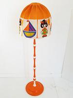 FLOOR LAMP MUSHROOM ROOM CHILD VINTAGE 1970 ORANGE SPACE AGE 70S 70'S