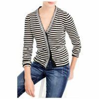 J. Crew Harlow Striped Merino Wool Cardigan Women Size Large