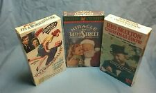 """Factory sealed lot of 3 Xmas VHS tapes It's a Wonderful Life"""", """"Miracle on 34th"""