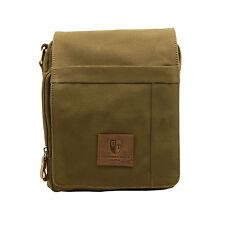 Underwood & Tanner-vert olive messager sac corps / dans canvas-leather