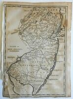 New Jersey state map 1799 Barker engraved Low early American engraved map