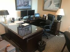 Desk, credenza and other high-end office furniture - excellent condition