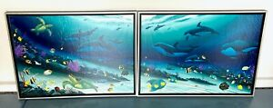 WYLAND Radiant Reef Printers Proof Diptych Giclee Canvas 2001 Signed