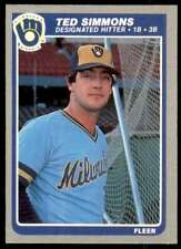 1985 Fleer Ted Simmons Milwaukee Brewers #596