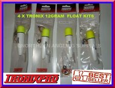 4 x Tronix Pro Small Sea / Pike Fishing Complete Sliding Float Kits FREEPOST