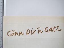 Aufkleber Sticker GATZ - Gönn dir'n Gatz - Altbier - Düsseldorf (S1099)