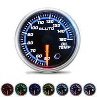 52mm Oil Temp Temperature Gauge Meter Car 7 Color LED Pointer Universal Sensor