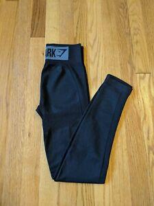 Size S small, Gymshark FLEX HIGH WAISTED Leggings. High rise. NWOT. BLACK