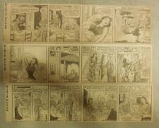 "(48) ""Dixie Dugan"" Dailies by Striebel from 5-6,1944 2.5 x 7.5 inches"
