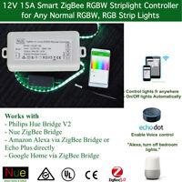 ZigBee RGBW LED Strip Light Controller for Echo Plus Philips Hue Google Home