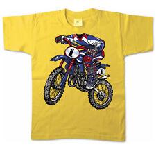 Kinder T-Shirt 15832 Motocross Motocrossfahrer Motorrad Rider Halloween Fasching
