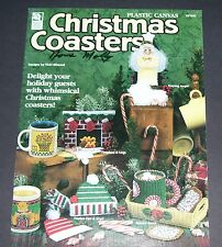 PLASTIC CANVAS PATTERN LEAFLET BOOK CHRISTMAS COASTERS 181045