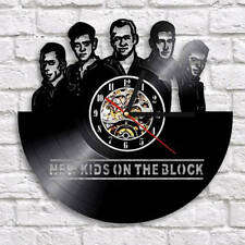 New Kids On The Block Vinyl Record Wall Clock Handmade Gift Idea For Fan Art