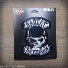 Harley Davidson Authentic Patch - Spike Skull  - Medium Emblem Badge