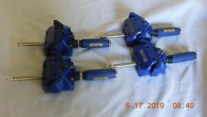 Irwin tools quick grip 90 degree right angle clamps #226210. (Lot of 4)