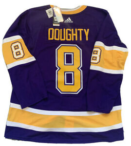 DREW DOUGHTY LOS ANGELES KINGS AUTHENTIC ADIDAS REVERSE RETRO JERSEY SIZE 54 XL