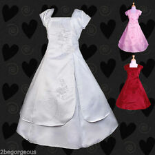 Unbranded Satin All Seasons Dresses (2-16 Years) for Girls