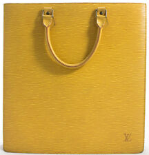 Louis Vuitton EPI Sac Plat Business Bag Tasche Shopper Bag Gelb Yellow SUPER