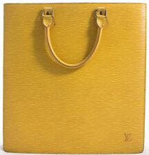 Louis Vuitton EPI Sac Plat Business Bag Tasche Shopper Bag Gelb Yellow SUPER