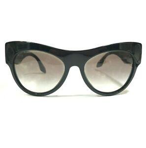 Prada SPR 22Q 1AB-0A7 Eyeglasses Sunglasses Frames Black Cat Eye Full Rim 140