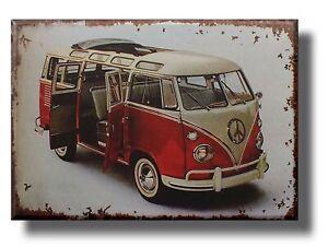 VW Campervan Plaque Sign split gift retro man cave beach bar wall camper van