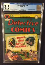 BATMAN DETECTIVE COMICS #104 CGC 3.5 DC 1945 Golden Age 10 Cent FRANK SINATRA