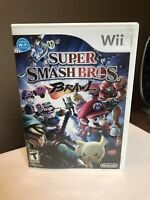 nintendo wii super smash bros brawl 100% Complete Disc Is In Great Condition!