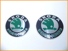 Skoda Fabia Octavia II front&rear Insignia Emblema Logo 1u0853621c 3u0853621b-new