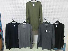 5 LOT BIG TALL CLOTHING MEN'S PULLOVER V-NECK CAUSAL BUTTON SHIRT TOP 3XLT XXXLT