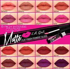 16 Pcs L.A. LA Girl Matte Lip Gloss GLG, Matte Finish Pigment  -FULL SET-
