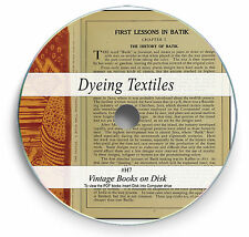 Vintage Dye & Colour Books on DVD - Dyeing Textiles Fabric Clothes Candle Kit H7