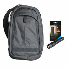 Vertx EDC Transit Sling Compact Commuter Bag - Grey w/ Keychain Flashlight