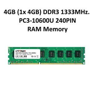 unimega 4GB (1x 4GB) DDR3 1333MHz PC3-10600U 240PIN 1,5V PC RAM Speicher Memory