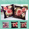 Elegant Printed Dyeing Peony Pillow Case Throw Cushion Cover Sofa Bed Home Decor