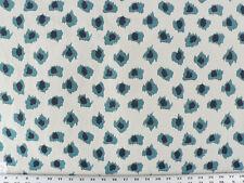 Drapery Upholstery Fabric Jacquard Animal Print Polka Dot Leopard Navy/Turquoise