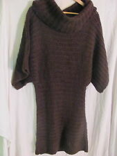 NEW WITH TAGS WOMEN'S ARDEN B COWL NECK SWEATER LONG SHIRT OR DRESS BROWN LARGE