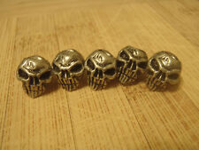 Paracord Lanyard 5 Pewter Skull Beads #3 International