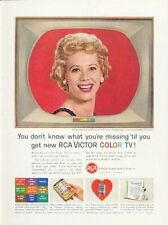 1961 RCA Victor Color TV Television Dinah Shore PRINT AD
