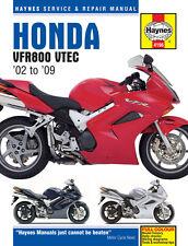 HAYNES 4196 MOTORCYCLE REPAIR OWNER MANUAL HONDA VFR V-TEC V-FOURS 02 - 09