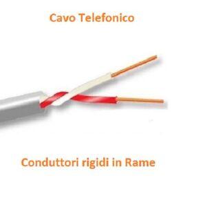 CAVO TELEFONICO TE1X2X0.6R 2 cavi 0,6mm CT1220 TELECOM PREZZO per 10 METRI