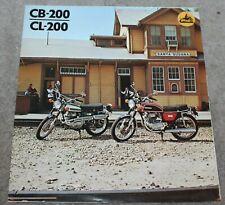 VINTAGE ORIGINAL HONDA CB-200 CL-200 POSTER BROCHURE 1973