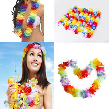 4PCS Hawaiian Beach Lei Flower Necklace Garland Tropical Theme Party Decorations