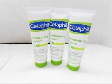 Cetaphil Moisturizing Cream For Sensitive Skin Fragrance Free 3oz  (3 pack) ***