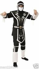 New Dragon White & Black Skull Ninja Halloween Costume Child small size 4-6